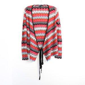 Le Chateau Missoni-like zigzag striped knit wrap M
